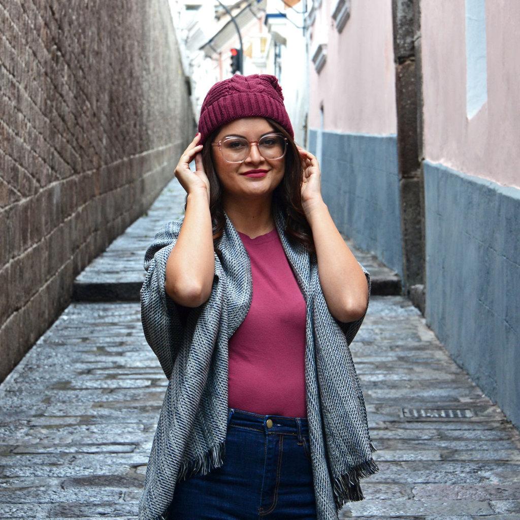 Minga Imports Harlow Knit Hat Rose