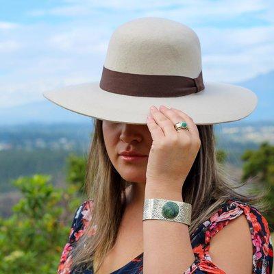 Minga Imports Zoe Felted Wool Hat Cream