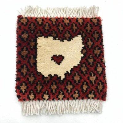 Bunyaad Ohio Handknotted Rug Coaster