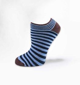 Maggie's Organics Organic Cotton Navy/Blue Pinstripe Footies