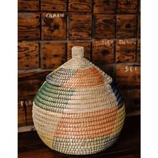 Ten Thousand Villages Kaisa Colorful Round Lidded Basket