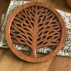 Serrv Tree of Life Wooden Trivet