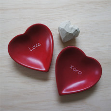 Venture Imports Soapstone Heart Dish Hand Carved