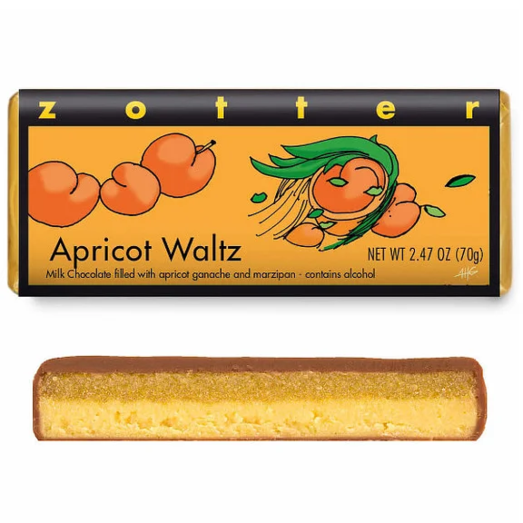 Zotter Chocolate Apricot Waltz Hand-Scooped Chocolate