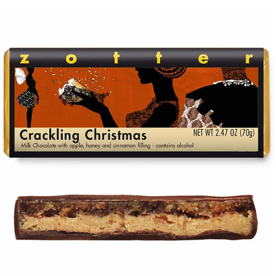 Zotter Chocolate Crackling Christmas Hand-Scooped Chocolate