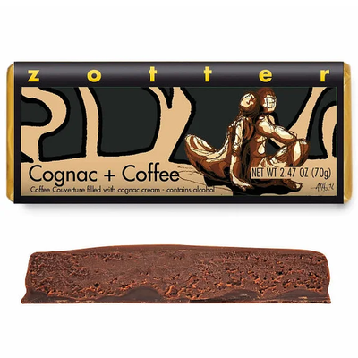 Zotter Chocolate Cognac & Coffee  Hand-Scooped Chocolate