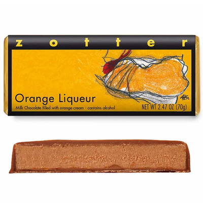Zotter Chocolate Orange Liqueur Hand-Scooped Chocolate