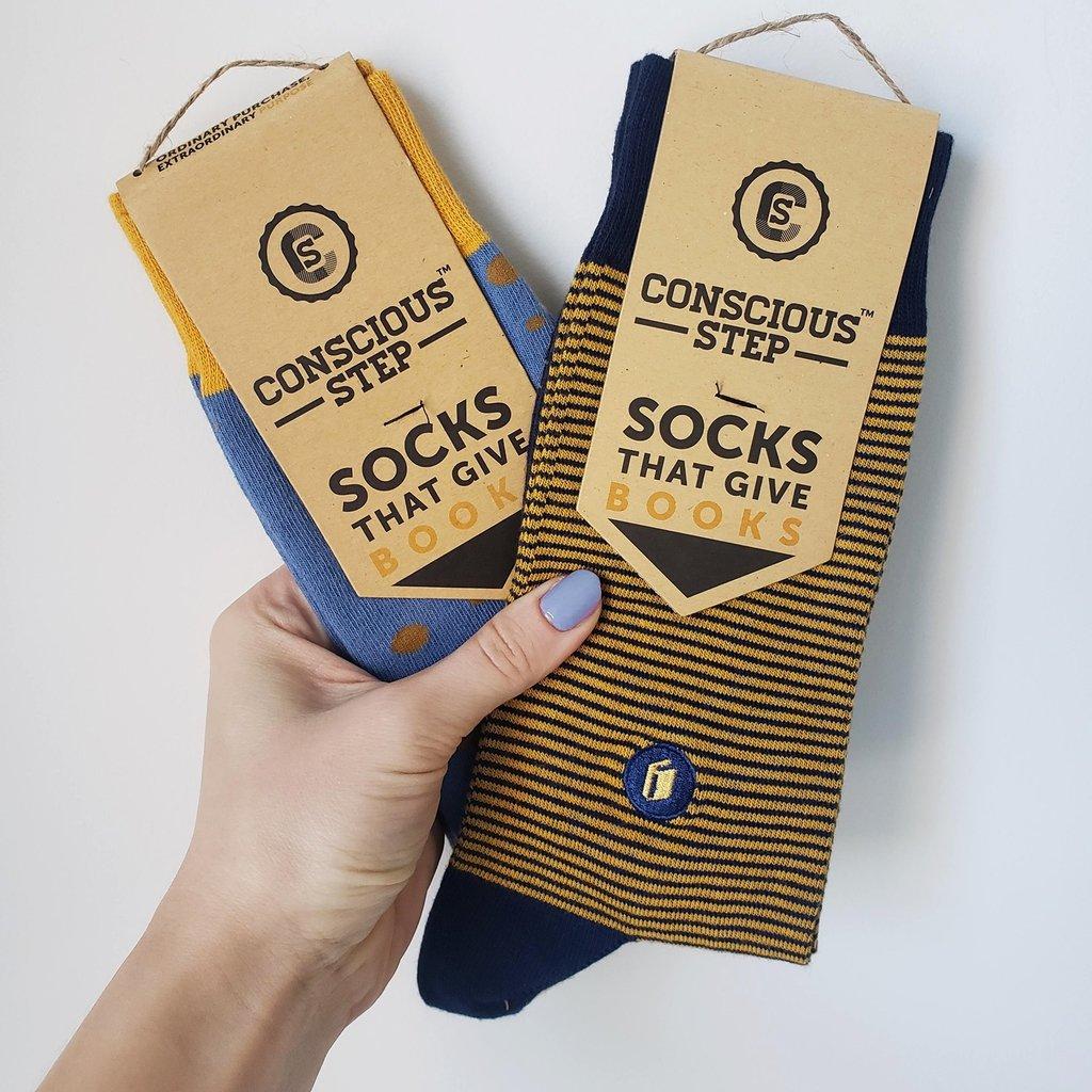 Conscious Step Socks that Give Books: Polka Dot