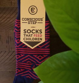 Conscious Step Socks that Feed Children: Red & Navy