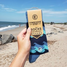 Conscious Step Socks that Protect Oceans - Waves
