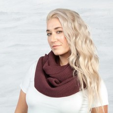 Maggie's Organics Organic Cotton Chunky Rib Knit Infinity Scarf: Mulberry