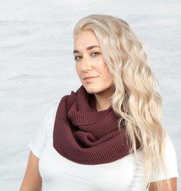 Maggie's Organics Organic Cotton Chunky Rib Knit Infinity Scarf: Mulberry