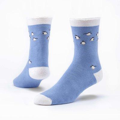 Maggie's Organics Organic Wool Snuggle Socks Blue Penquins