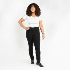 Maggie's Organics Organic Cotton Slim Pant: Black