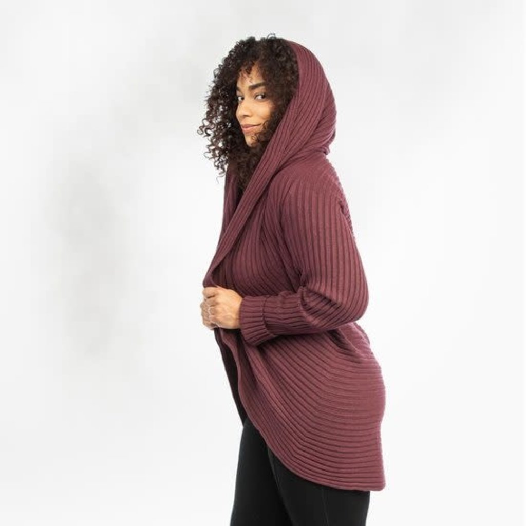 Maggie's Organics Organic Cotton Circle Sweater: Mulberry
