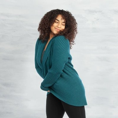 Maggie's Organics Organic Cotton Circle Sweater: Teal