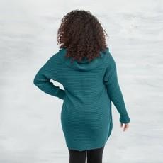 Maggie's Organics Organic Cotton Circle Sweater: Teal
