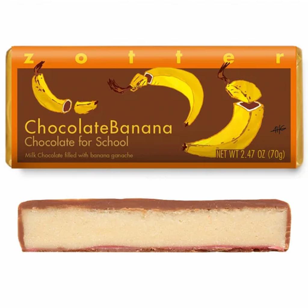 Zotter Chocolate Chocolate Banana Hand-Scooped Chocolate
