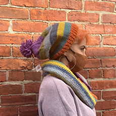 Creation Hive Kenyan Sunrise Merino Wool Striped Knit Hat