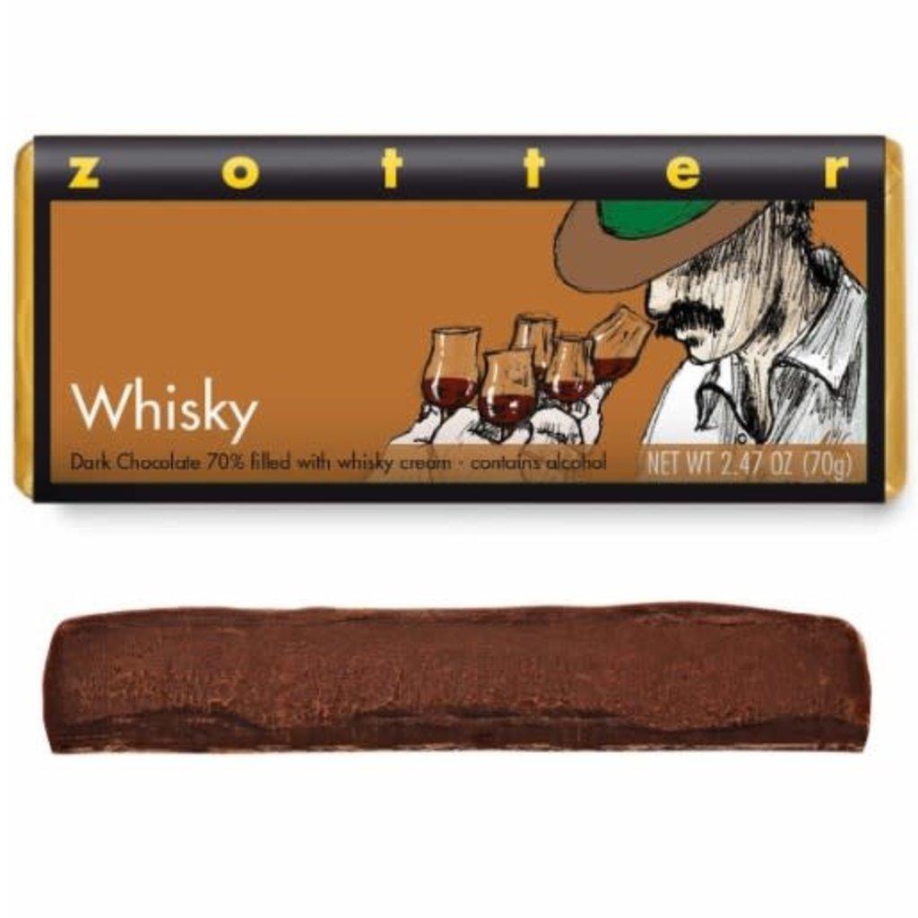 Zotter Chocolate Whiskey Hand-Scooped Chocolate