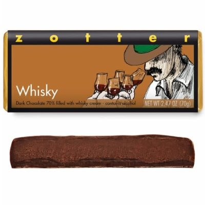 Zotter Chocolate Whiskey Hand-Scooped Chocolate