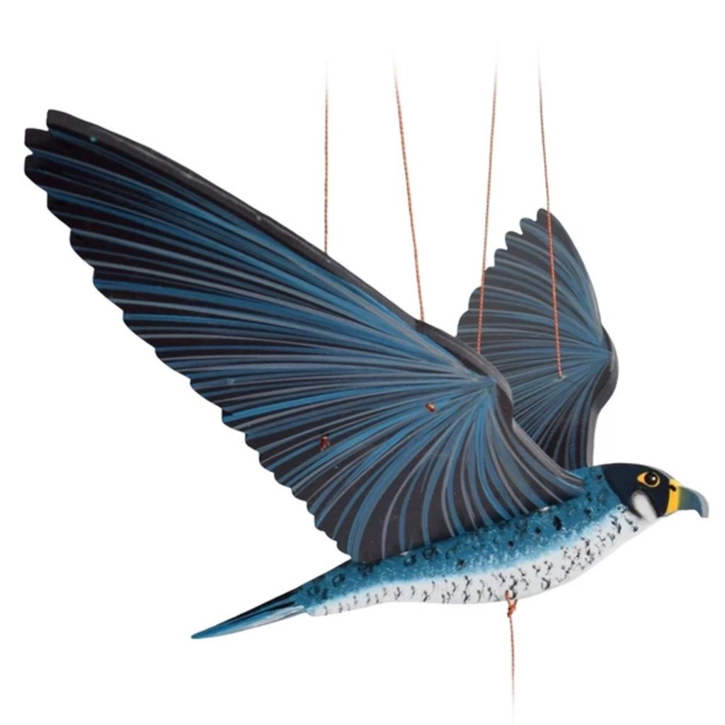 Tulia's Artisan Gallery Flying Mobile: Peregrine Falcon