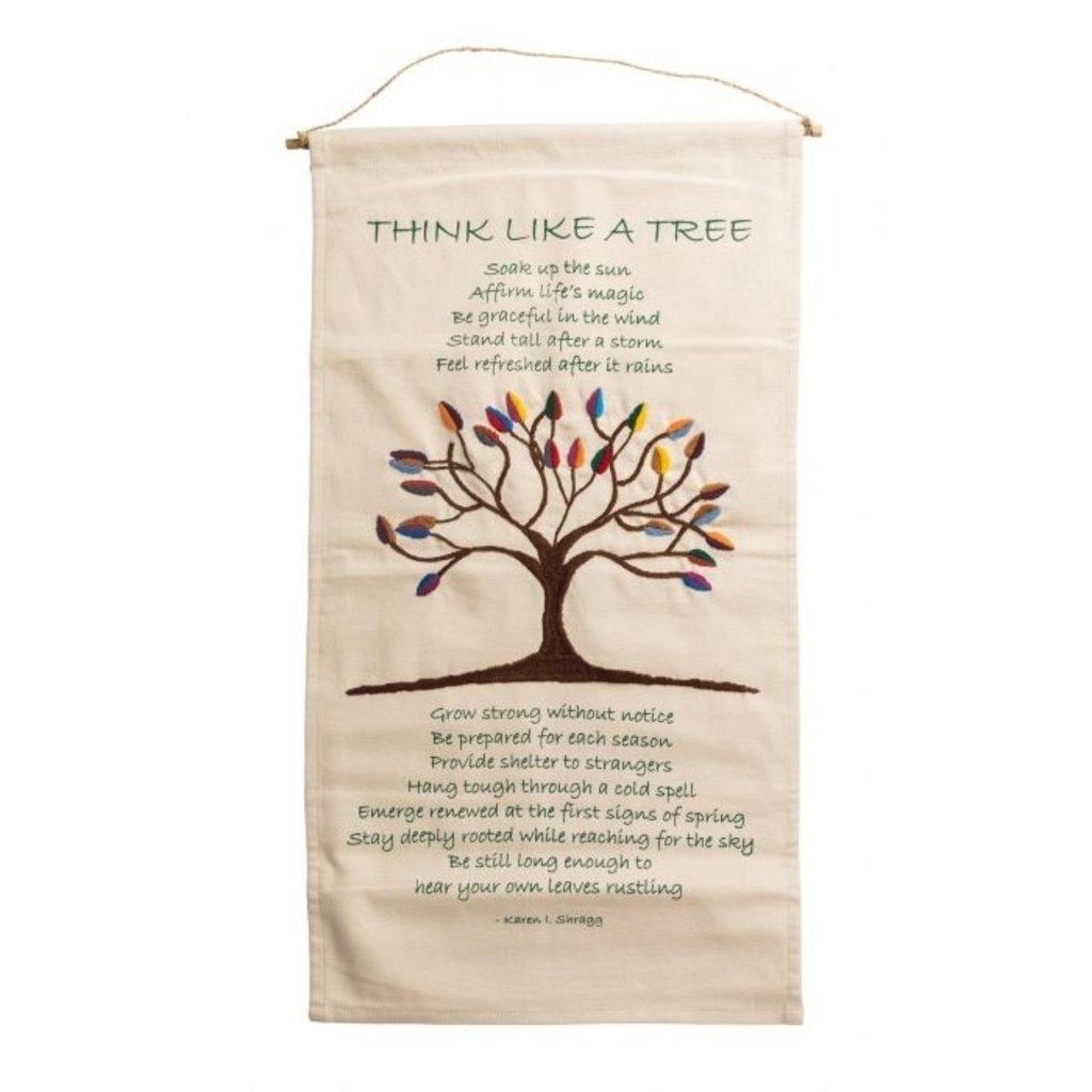 Ten Thousand Villages Tree Poem Wall Hanging