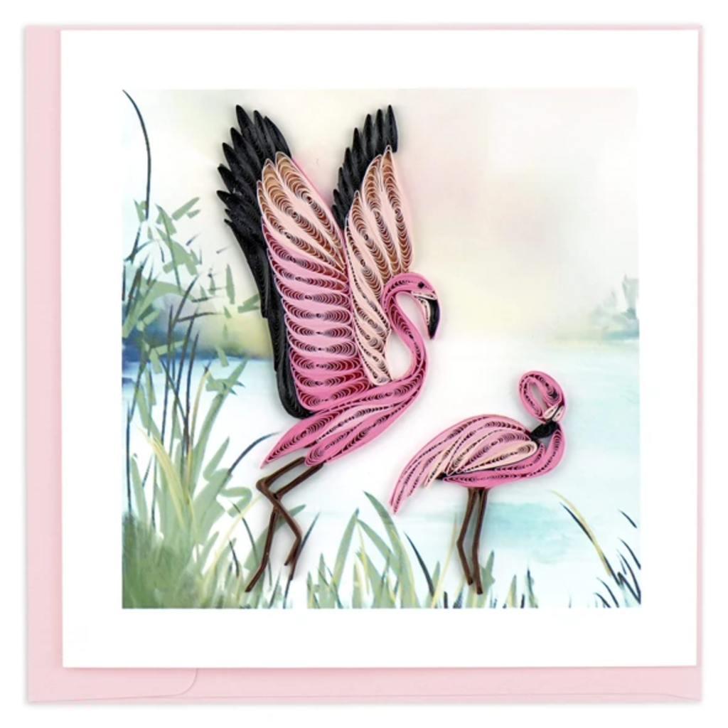 Quilling Card Flamingo Quilling Card