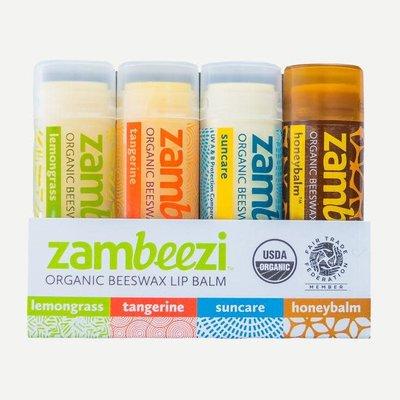 Sambah Naturals Variety Four Pack of Zambeezi Lip Balm