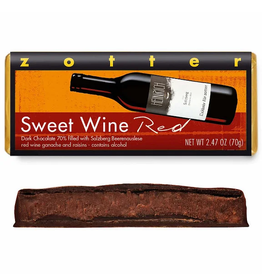 Zotter Chocolate Sweet Wine Red Hand-Scooped Chocolate