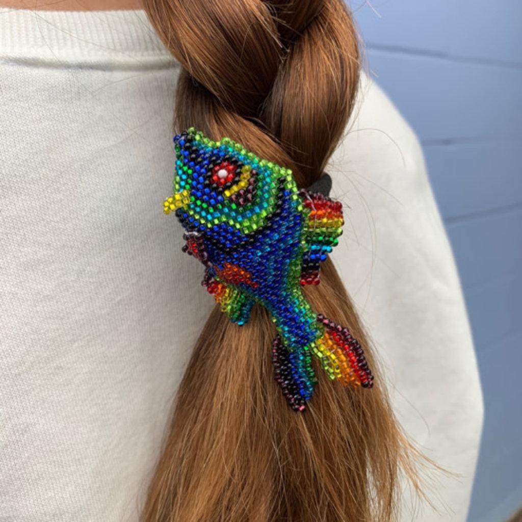 Unique Batik Beaded Fish Hair Holder