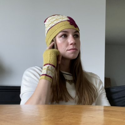 Ella Ember Baby Alpaca Lulu Hat: Yellow/Ivory/Magenta