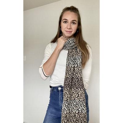 Ella Ember Leopard Print Baby Alpaca Scarf