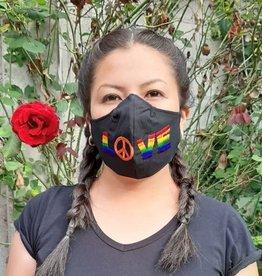 Lucia's Imports Rainbow Love Face Mask Medium