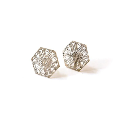 Fair Anita Snowflake Silver-plated Stud Earrings