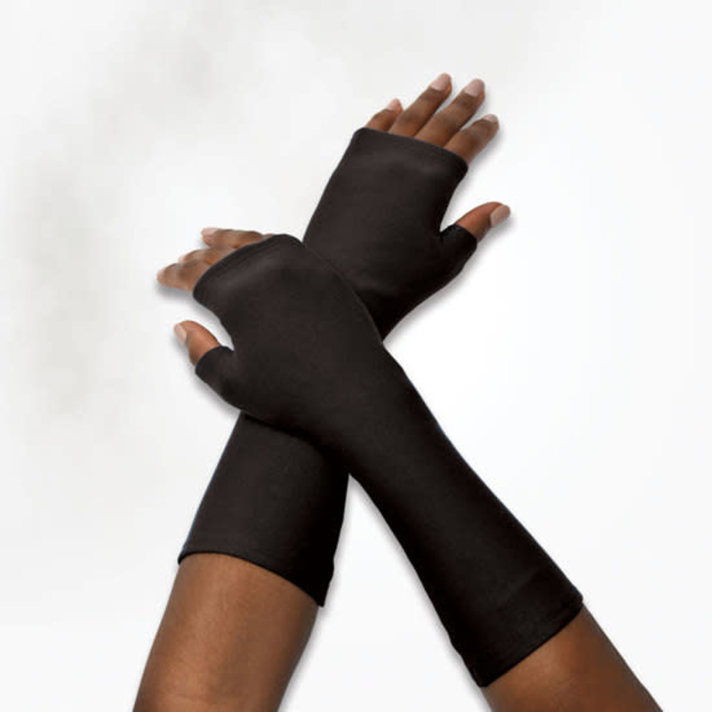 Maggie's Organics Organic Cotton Fleece Arm Warmer: Black