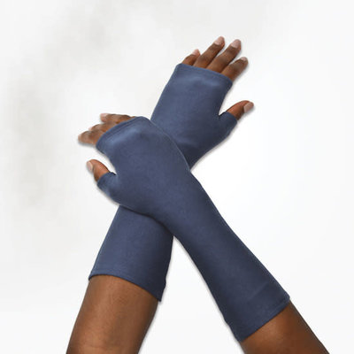 Maggie's Organics Organic Cotton Fleece Arm Warmer: Dusty Denim
