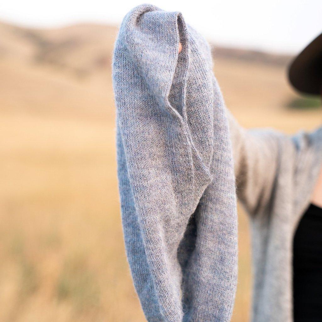 Andes Gifts Milkshake Alpaca Infinity Scarf: Powder Blue
