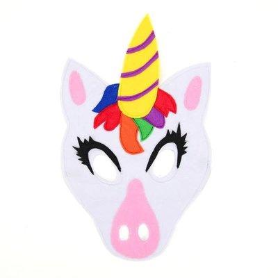 Minga Imports Felt Play Mask Unicorn