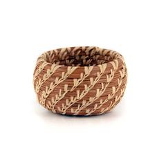 Mayan Hands Minature Pine Needle Bowl Basket