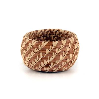 Mayan Hands Miniature Pine Needle Bowl Basket