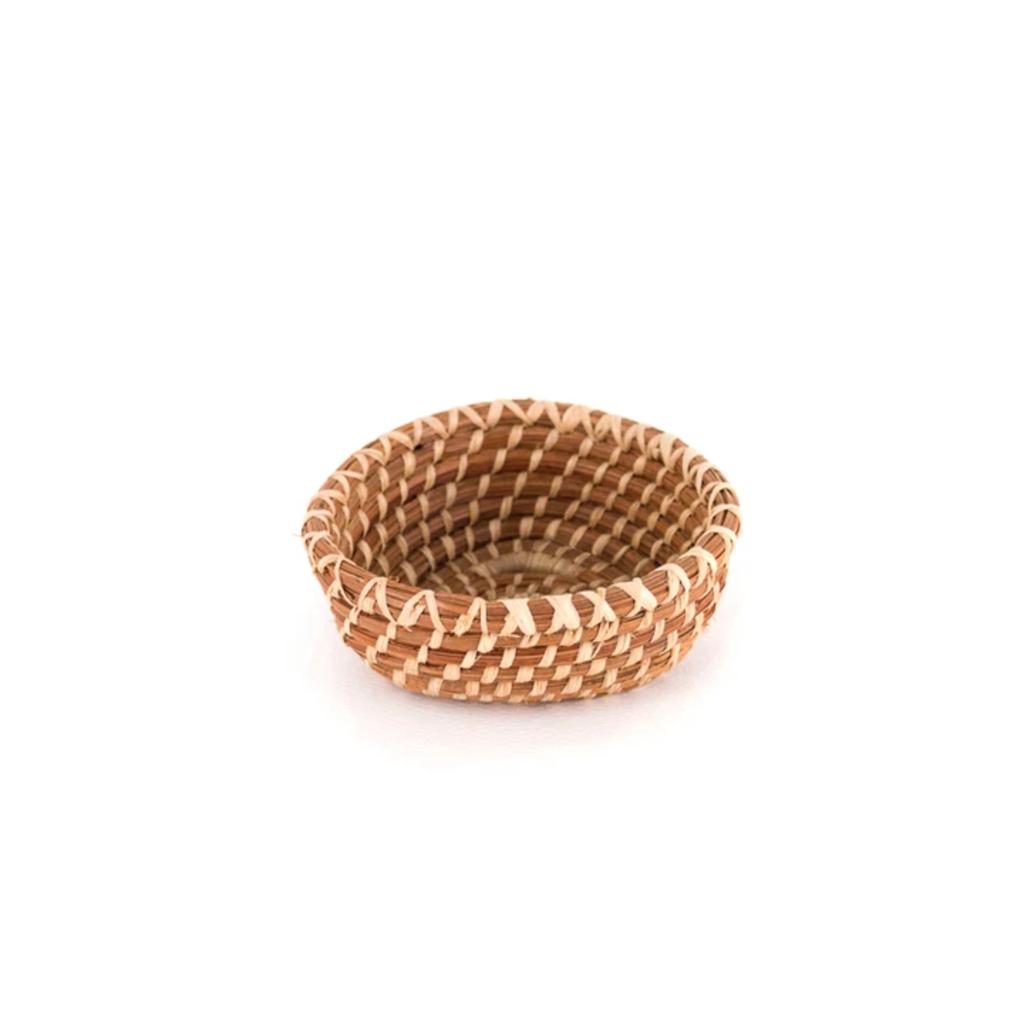 Mayan Hands Alicia Miniature Pine Needle Basket