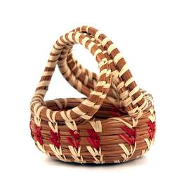 Mayan Hands Minature Pine Needle Handle Basket