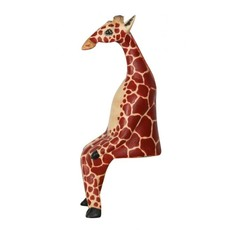 Ten Thousand Villages Large Giraffe Wood Shelf Sitter