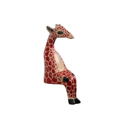 Ten Thousand Villages Little Giraffe Wood Shelf Sitter