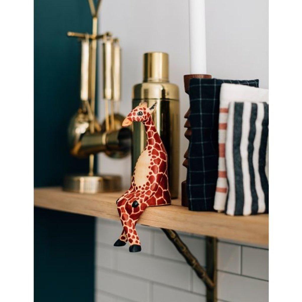 Ten Thousand Villages Large Giraffe Wood Shelf Sitter