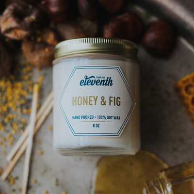 Eleventh Candle Co Honey And Fig Candle 8oz
