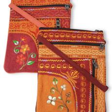 Ganesh Himal Jari Embroidered 2 Zip Passport Bag
