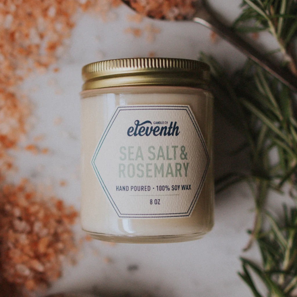 Eleventh Candle Co Sea Salt And Rosemary Candle 8oz