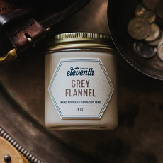 Eleventh Candle Co Grey Flannel Candle 8oz